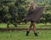 Italian Wool & Cashmere blend Poncho - Classic in Brown - Always classic, A wardrobe staple