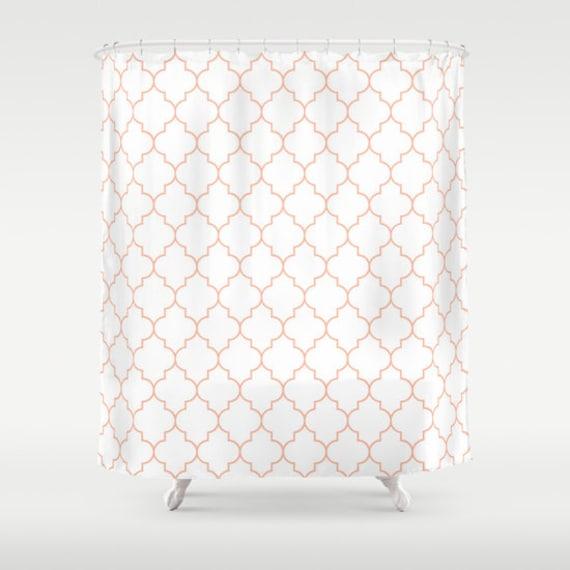 Shower Curtain Peach Shower Curtain Quatrefoil Dorm