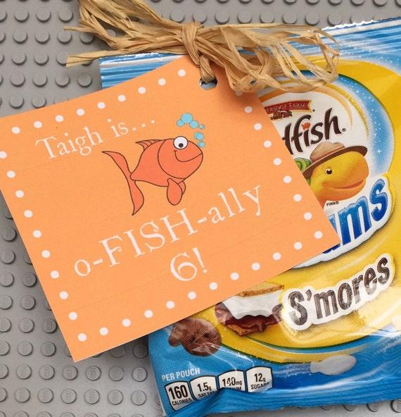 Classroom Birthday Treat Printable Tags Fish Birthday Party