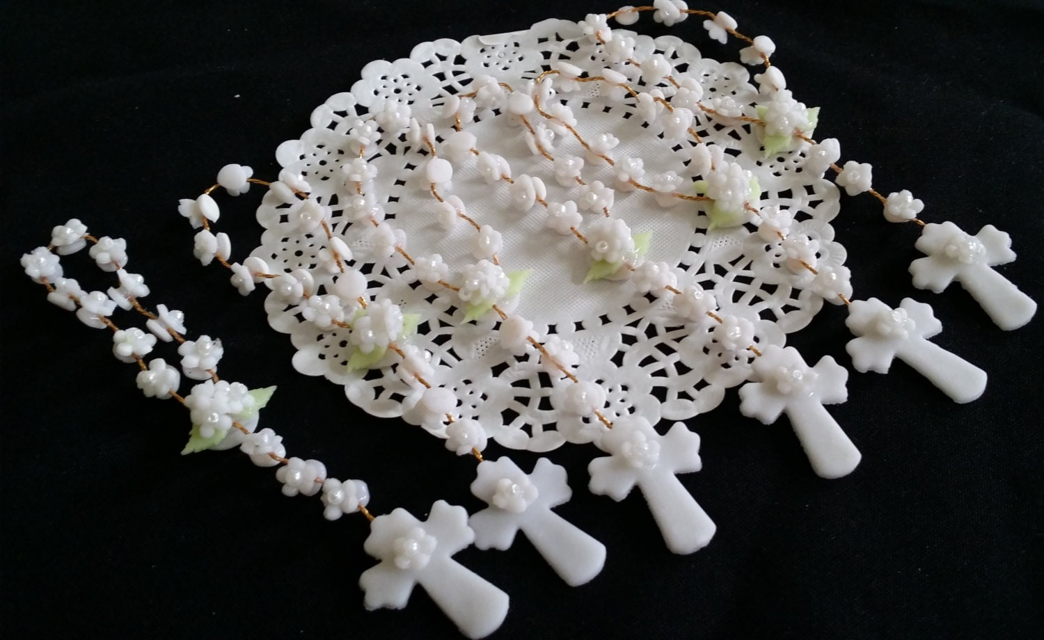24 First Communion Rosary Favor Mini Rosary Baptism Favor