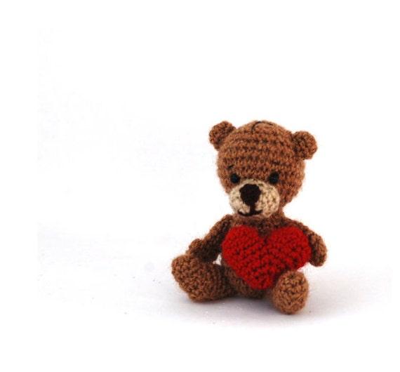 Amigurumi Mini Bear : amigurumi bear crochet bear miniature bear by ...