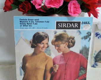 Vintage Knitting pattern - Sirdar knitting book no 2463b
