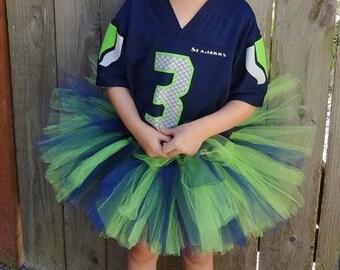 Seattle Seahawk's Tutu, Girl's Seahawks Tutu, Seahawks Tutu, Girls Seahawk Tutu