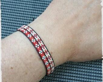 Bracelet wrap, bicolor