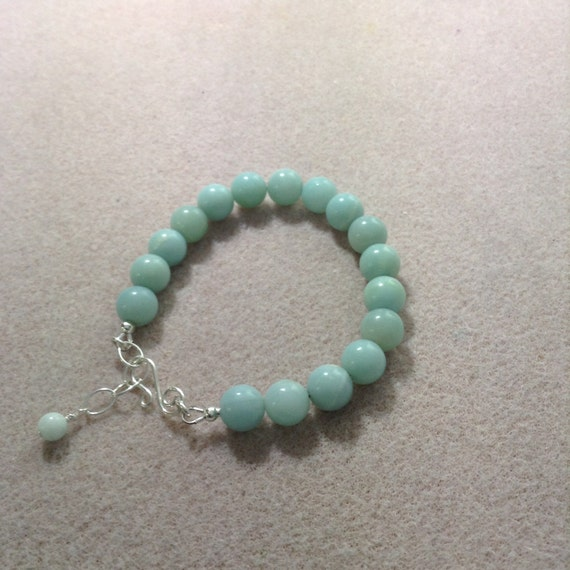 Amazonite and Sterling Silver Bracelet BSS6151793