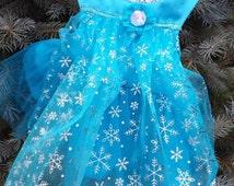 Elsa Dog Costume