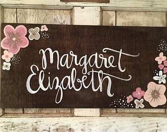 Nursery Decor | Home Decor | Hand Painted Wood Sign