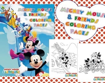 Mickey Mouse coloring pages - Minnie Mouse coloring book