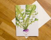 Turnip Greeting Card 5x7 ...