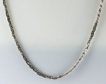 Vintage Sterling Silver Twisted, Intricate   Necklace 4.6g U5628