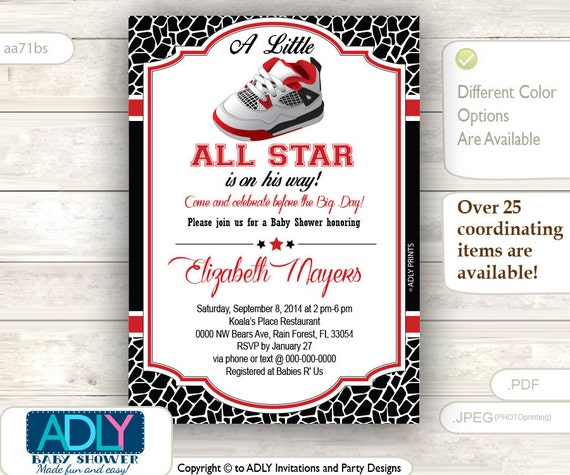 Items Similar To Boy Shoe All Star Red Black Invitation