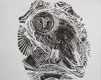 Starry Night - Original Linocut Print