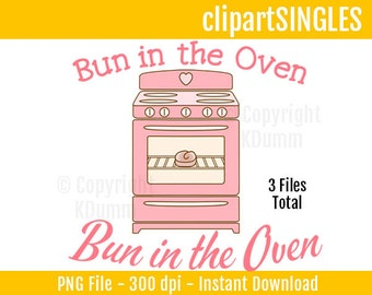 Bun in the oven small | Production Ready Artwork for T ...