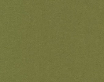 Organic Monaluna olive green solid plain colour cotton fabric fat quarter
