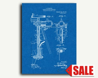 Patent Poster - Evinrude Boat Outboard Motor Patent Wall Art Print Poster