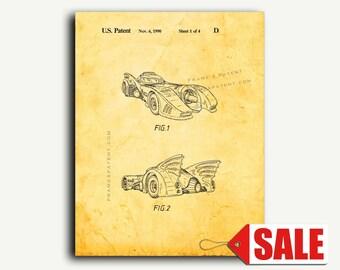 Patent Art - Batmobile Patent Wall Art Print