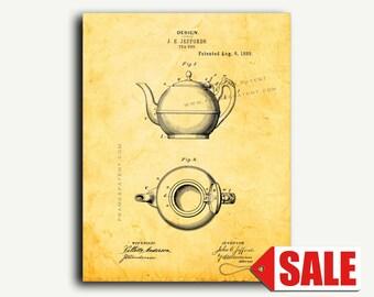 Patent Art - Tea Pot Kitchen Patent Wall Art Print