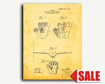 Patent Print - Base-ball Glove Or Mitten Patent Wall Art Poster