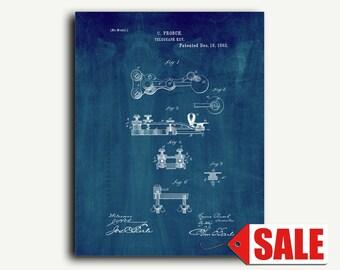 Patent Print - Telegraph Key Patent Wall Art Poster