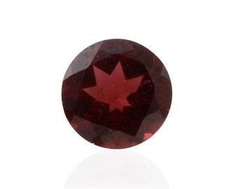 Mozambique Red Garnet Loose Gemstone Round Cut 1A Quality 7mm TGW 1.35 cts.