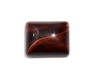 South African Red Tigers Eye Baguette Cabochon Loose Gemstone 1A Quality 11x9mm TGW 3.85 cts.