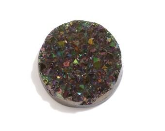 Green Drusy Quartz Round Cabochon Loose Gemstone 1A Quality 11mm TGW 2.65 cts.