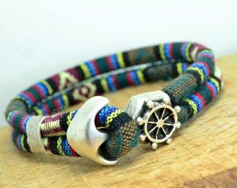 EXPRESS SHIPPING Men bracelet,Bohemian men Bracelet,Gypsy Bracelet,Bohemian bracelet, anchor bracelet, anchor men bracelet,wheel bracelet