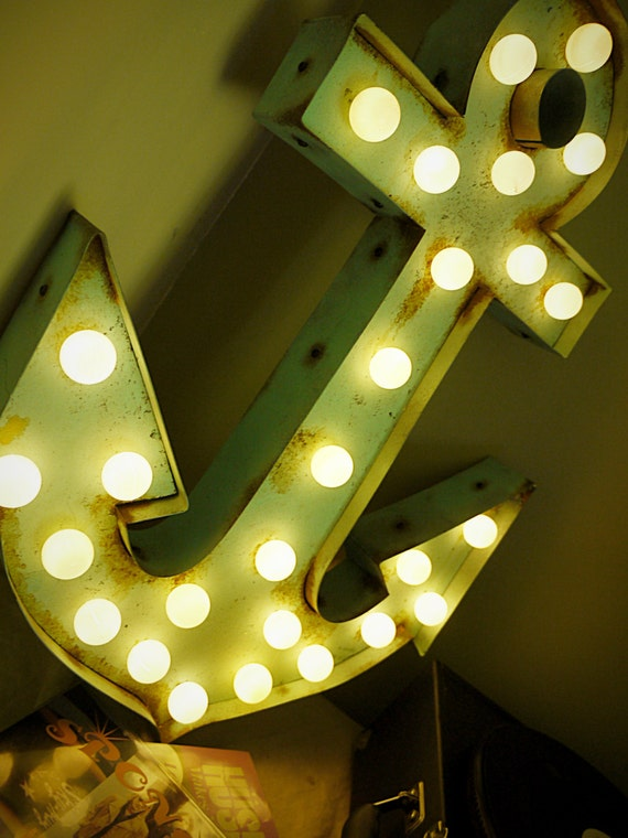 Turquoise Marquee Anchor Light