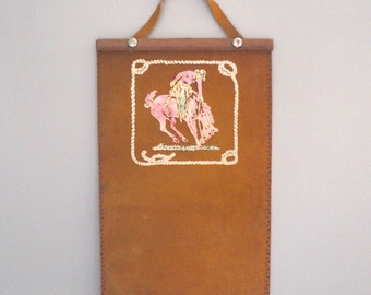 Leather Cowboy Wallhanging