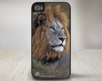 "Lion iPhone 5 Case, Lion iPhone 5s Case, Lion iPhone Case Protective Phone Case ""Mara Monarch"" 50-8201"