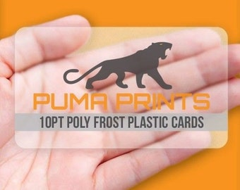 Polyfrost Frosted Plastic Business Cards - Full Color, Polyfrost 10pt Plastic, w/Rounded Corners