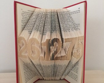 Folded Book Art - Custom Date