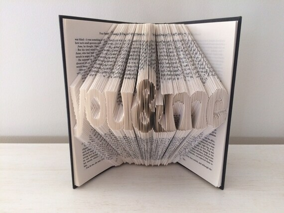 Folded Book Art - You & Me