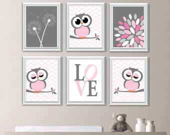 Baby Girl Nursery Art. Girl Nursery Decor. Owl Nursery Art. Owl Decor. Owl Nursery Decor. Owl Nursery Wall Art. Dream Big Little One. NS-745