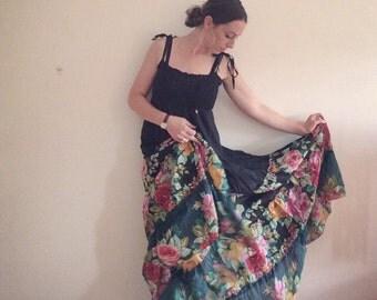 Floral dress, Ruffles!