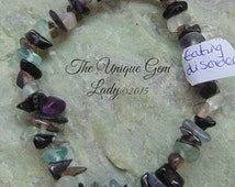 Eating Disorder Blend Gemstone Chip Stretch Healing Bracelet Hand Made With Love