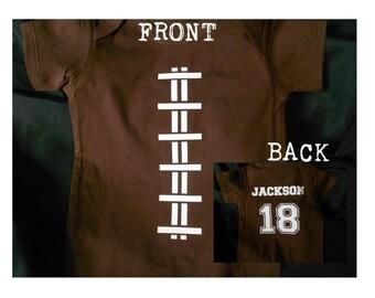 Custom Football Baby Onesie or Kid's T-Shirt
