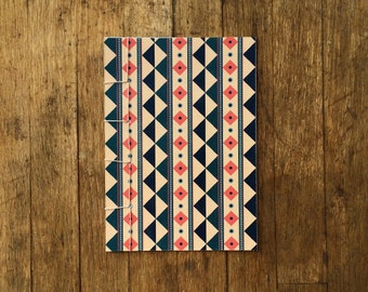 Japanese Bound A6 Notebook 'Minerva' geometric pattern – 20 pages