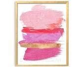 Abstract PRINTABLE Art, Pink Bedroom Art, Modern Abstract Art, Pink Abstract Art, Contemporary Home Office Wall Art, Pink Art, Hot Pink Art
