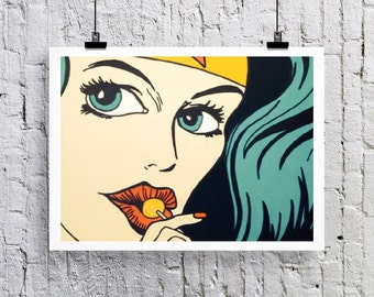 Wonder woman Art print/Greetings card