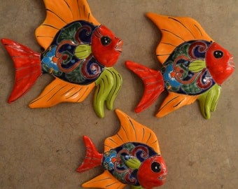 Set of 3 pieces of fish in Talavera