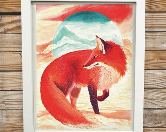 Snow Fox | Digital Print
