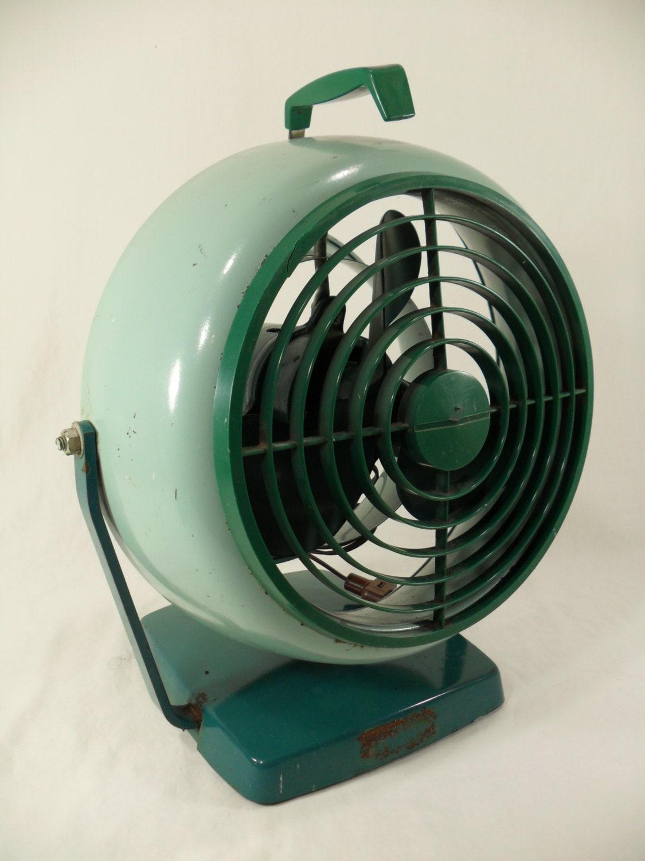 Vornado Desk Fan : Vintage green retro desk fan vornado style