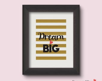 Printable Dream Big Nursery Wall Art