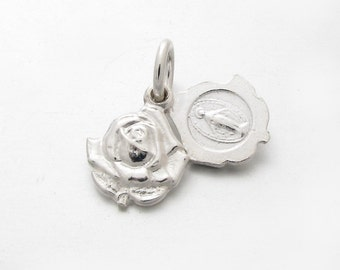 CP303 Miruclous Mari Rose Sterling Silver 925 Solid Pendant Charm