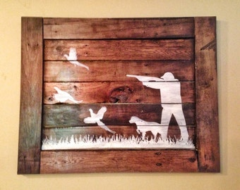 Pheasant hunting wood sign/ hunters home decor