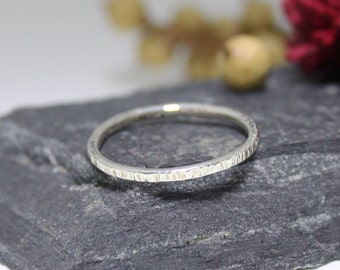 Sterling Silver Hammered Stacking ring, Silver Stacking Ring, Simple Ring, Rustic Silver Ring