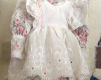 Vintage Rosebud Dress & Pinafore