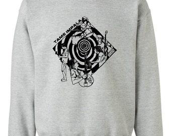 Tame Impala Sweatshirt (24 Colors Available) - Gildan X S M L XL XXL Psychedelic Handmade Illustration Eco-friendly Ink Screenprint