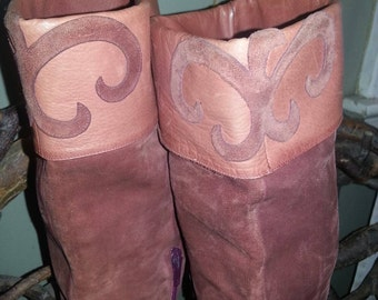 Rare Vintage 1960's Palmroth Finland Suede Boots sz 7